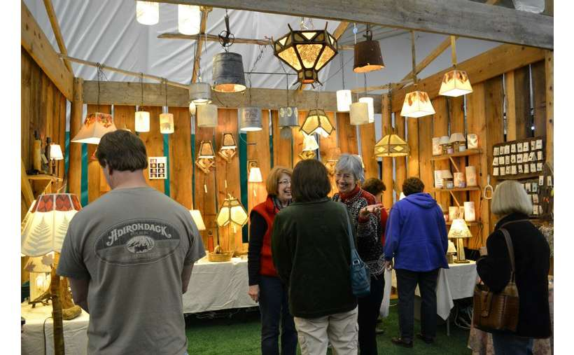 Fall Arts Festival booth, Northeast Living Lights
