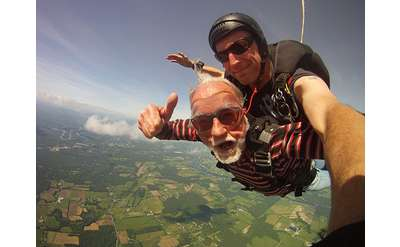There is no maximum age to sign up for a tandem jump.