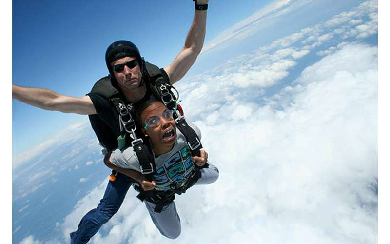 The 25-30 second free fall may be the most thrilling moment of your life.