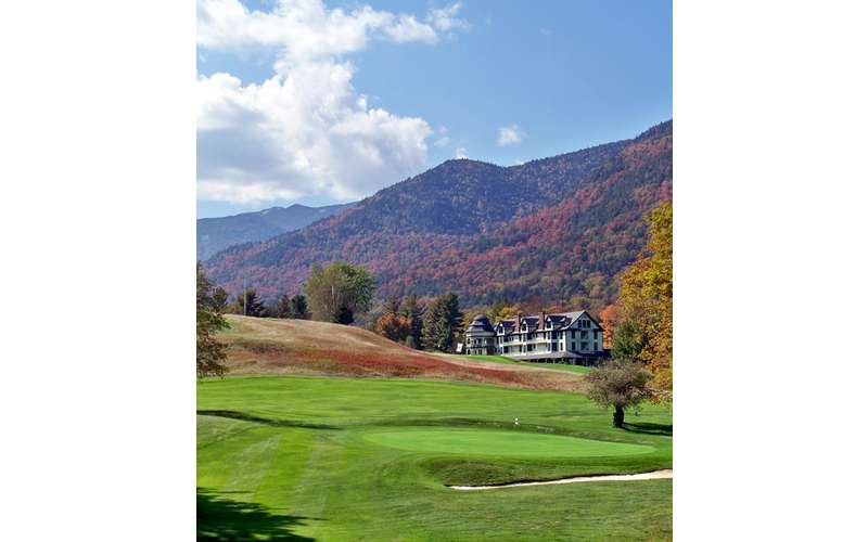 The Ausable Club in St. Huberts in the high peaks