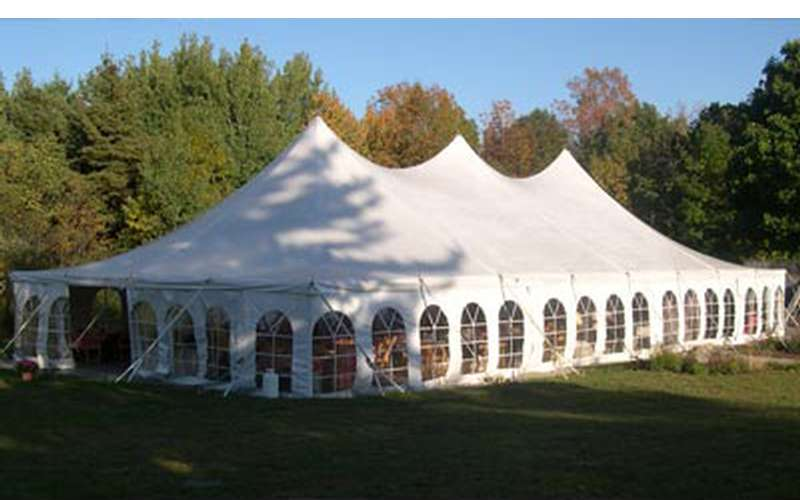 We have siding, lights, and heaters available for all our tents!