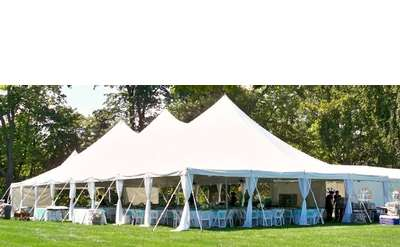 We have an assorted selection of modular sized Wedding Style Pole and Frame Tents.