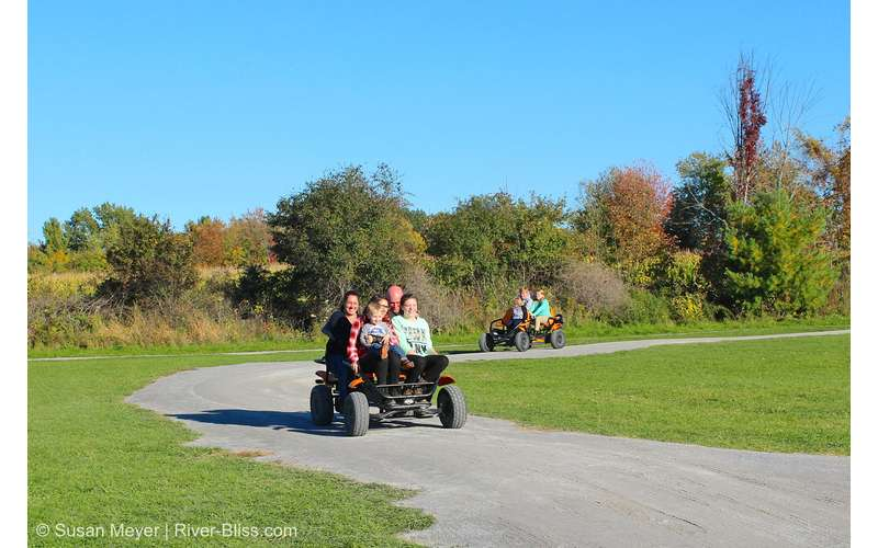 Did you know you can ride along the pedal cart track as a family?