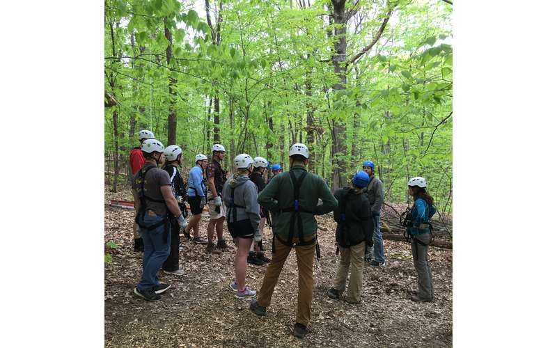 Host a team building event at Mountain Ridge Adventure.