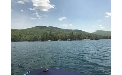 Approaching Agnes Island on Lake George
