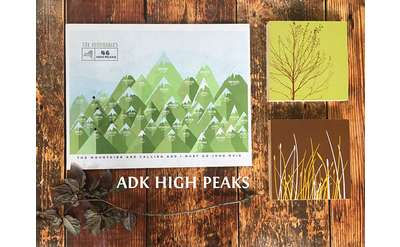 Keep track of which peaks you've hiked with this map of the high peaks.