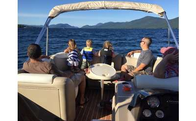 Diamond Point Boat Tours' pontoon is the perfect size for a family or group.