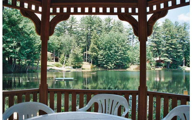 Our grounds feature a lakeside gazebo.