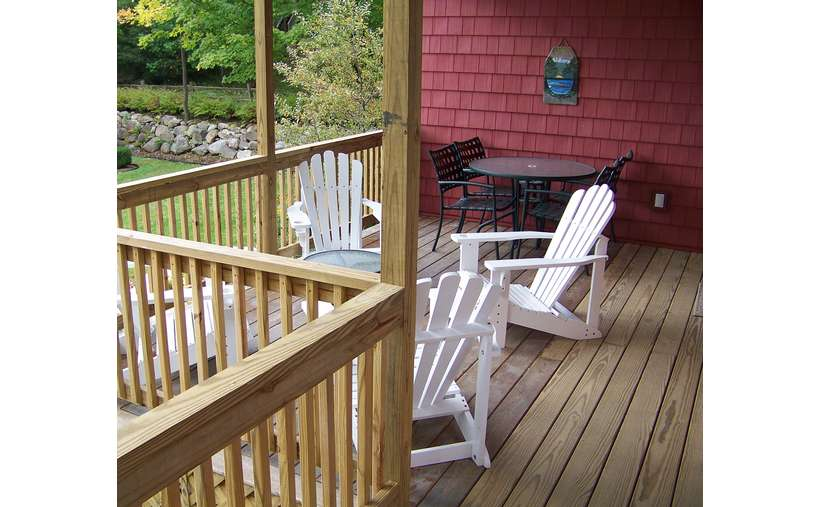 Front Porch for Morning Coffee or 5 O'clock drinks & snacks
