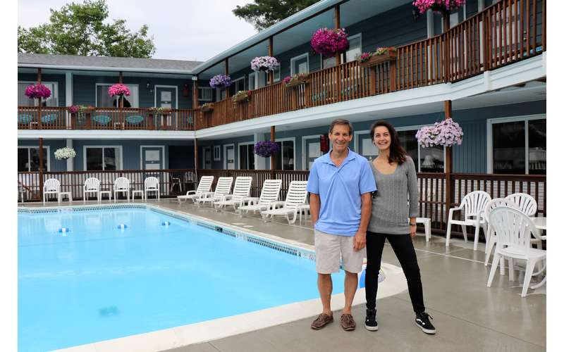 The owners/managers of the Lake Haven Motel