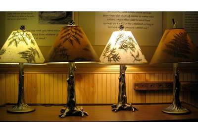 Bring the Adirondacks home with you with a custom lamp.