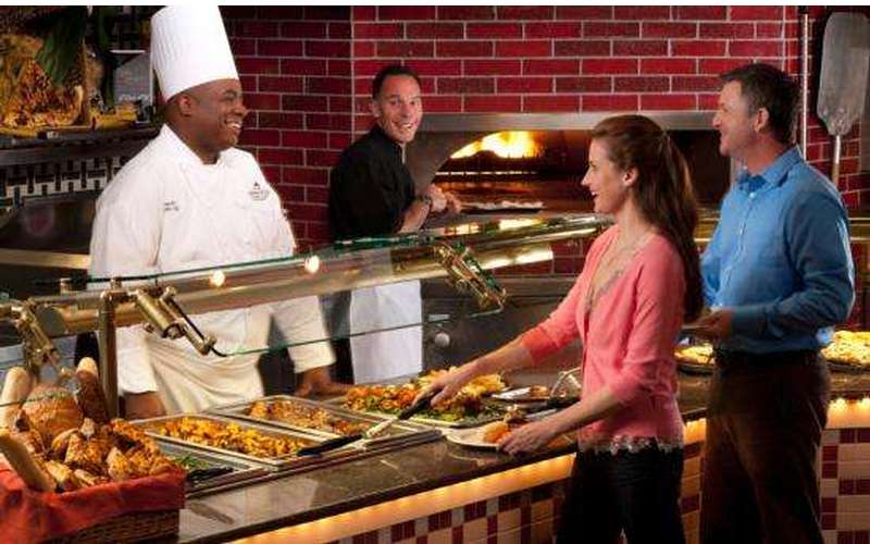 Feast on unlimited helpings of delicious cuisine at the Garden Buffet.