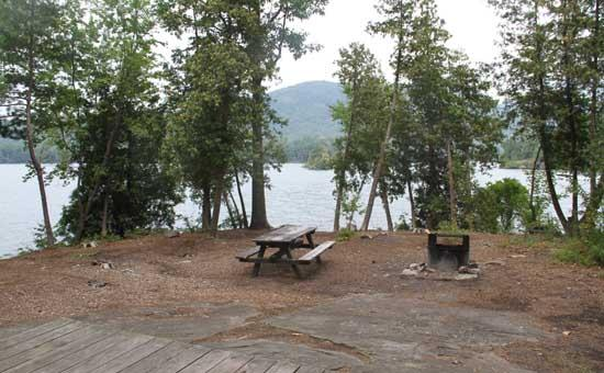 Lake George Camping Information For Island Camping Tent