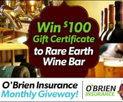 Win a $100 in Gift Certificates to Rare Earth Wine Bar