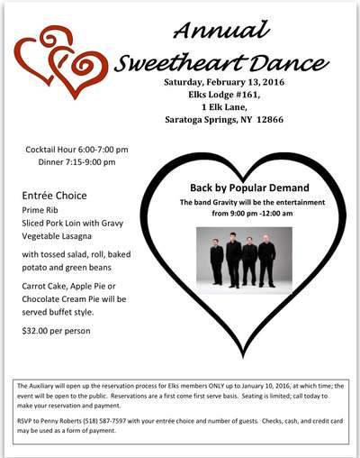 Annual Sweetheart Dance