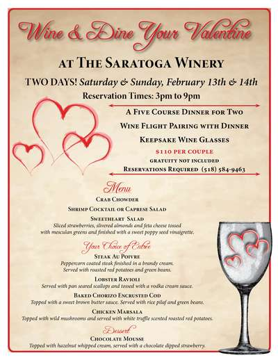 Valentine's Dinner at The Saratoga Winery