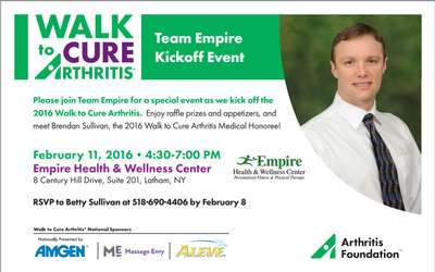 Team Empire Arthritis Walk Kick Off Event