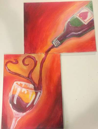 Paint, Sip, EAT!!! Mac N' Cheese Bar Included with every painting class! Valentines Package with Lobster Mac & Wine Ice Cream