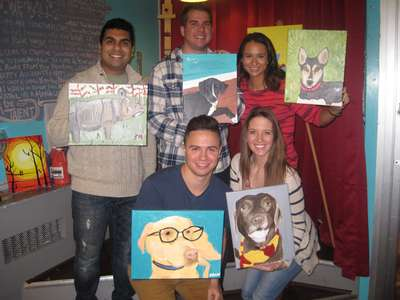 Paint, Sip, EAT!!! Mac N' Cheese Bar Included with every painting class!! Paint Your Pet!