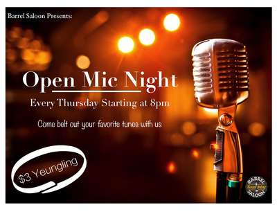 Open Mic Night. Every Thursday