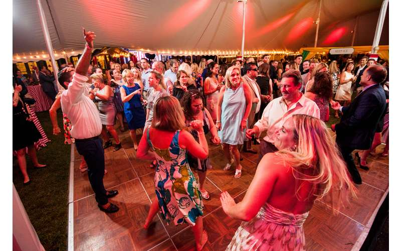 the dance floor at the dance of travers celebration