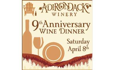 Cheers to the Years: Adirondack Winery Wine Dinner