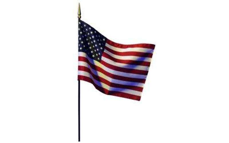 an image of the American flag with a white background