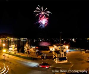 Fireworks in Lake George Village
