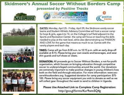 Skidmore's Annual Soccer Without Borders Camp