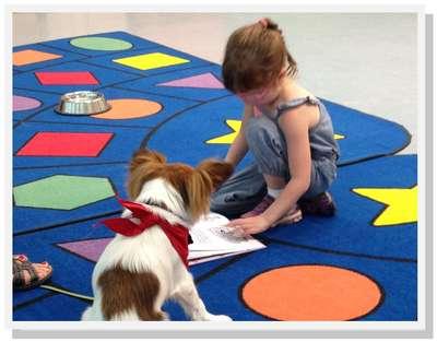 Wagging Their Tails for Tales: Therapy Dog Program