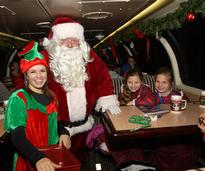 Santa and Elf on Polar Express Ride