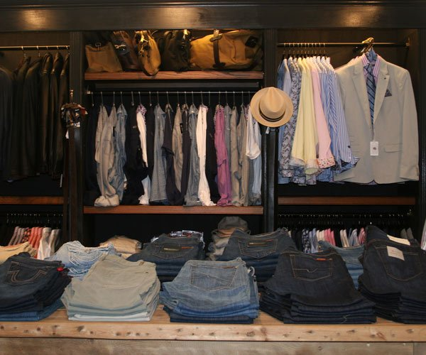 clothes in a store in saratoga