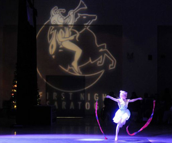dancer performing at first night saratoga