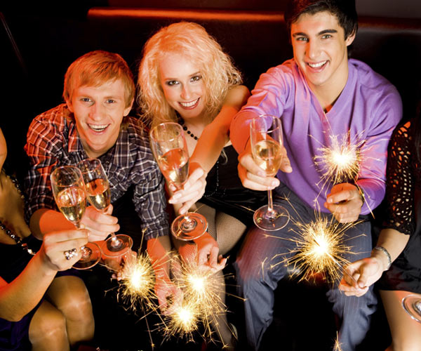 people celebrating new years eve