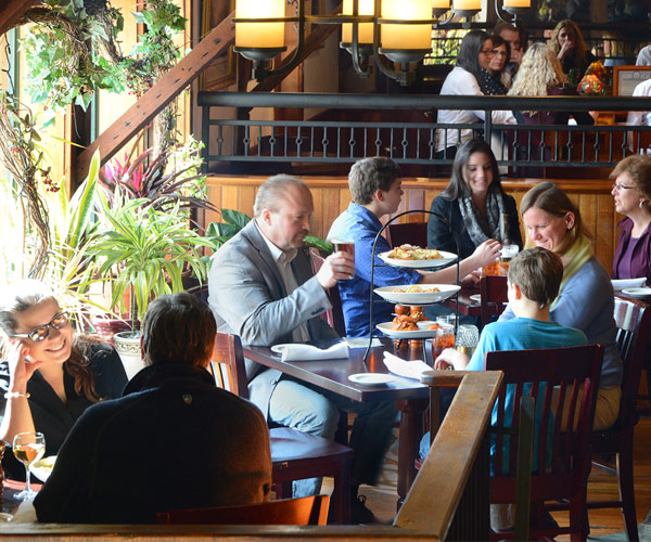 people eating at a restaurant in saratoga