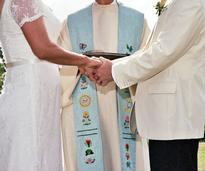 officiant marrying couple