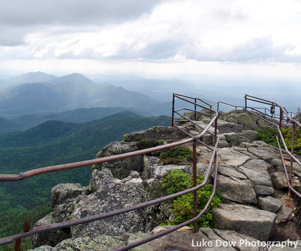 view from summit of whiteface mountain