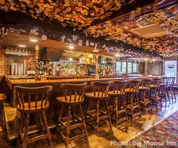 cozy bar at big moose inn