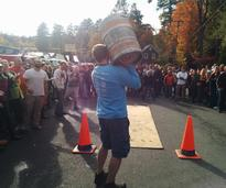 Competition at the Adk Brewery Oktoberfest in the Village of Lake George