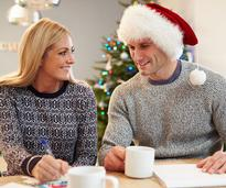 couple planning for christmas