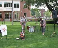 band performing outside in glens falls