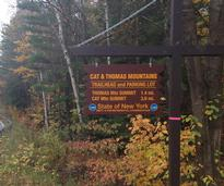 Cat Mountain trailhead sign