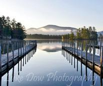 Docks on beautiful Lake George