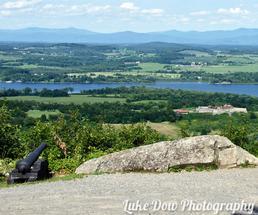 Lake and mountain vista