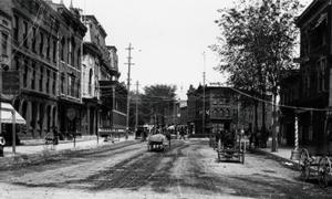 historic photo of downtown glens falls