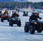 atvs at the lake george winter carnival