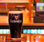 glass of guinness on counter