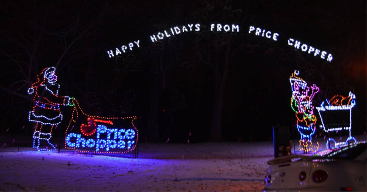 outdoor holiday lights display