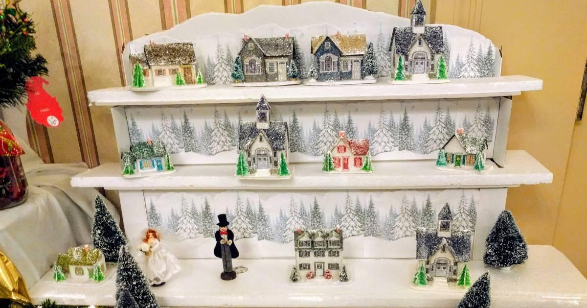village Christmas decoration display
