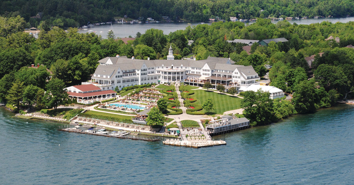 aerial view of Sagamore resort